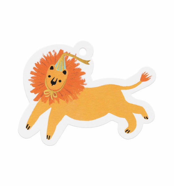 gift tags party lion