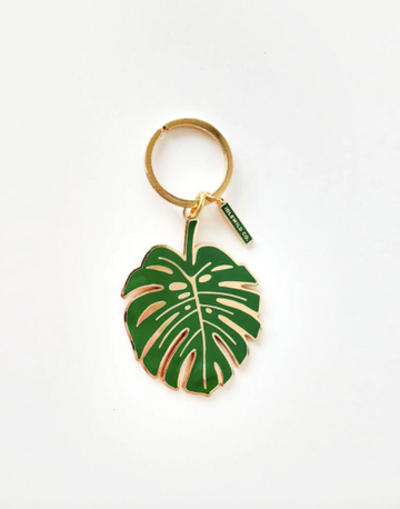monstera keychain - Piper & Chloe