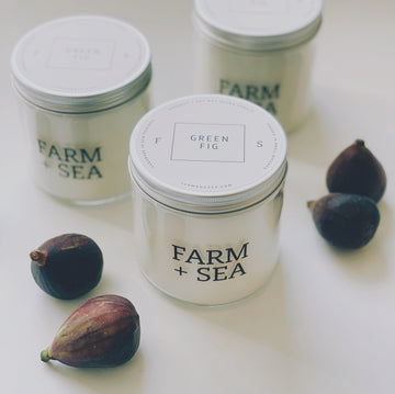 farm + sea soy candle in green fig | piper & chloe