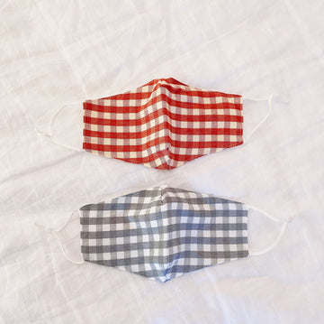 gingham face mask (set of 2) - Piper & Chloe