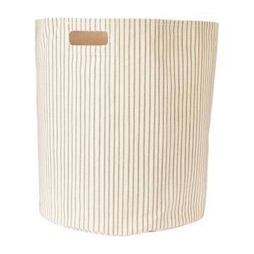 canvas hamper in pebble stripe - Piper & Chloe