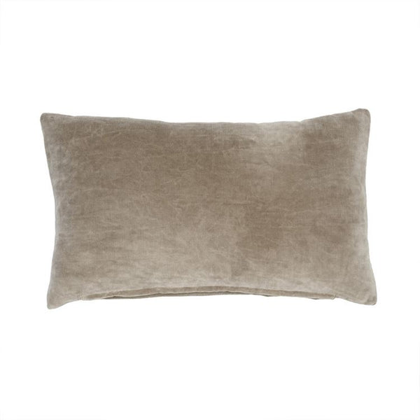 cushion in velvet taupe