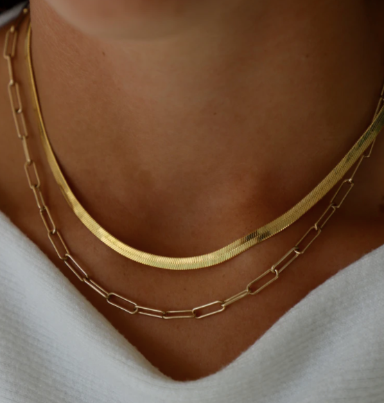 paperclip chain necklace - Piper & Chloe