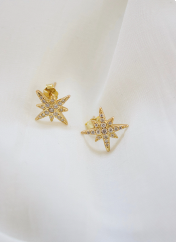 starburst stud earrings - Piper & Chloe