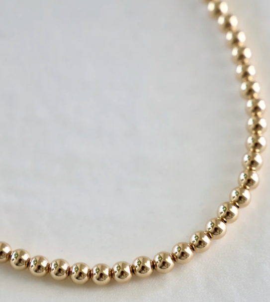 gold bead necklace - Piper & Chloe