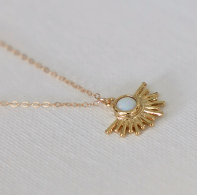 opal sun necklace - Piper & Chloe
