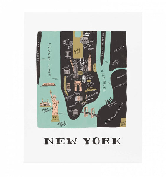 map print - manhattan