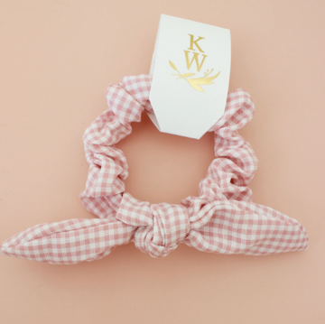 mini bow gingham scrunchie - Piper & Chloe