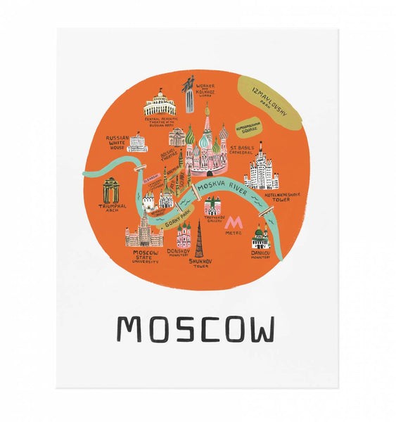 map print moscow