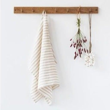 Natural Stripe Linen Tea Towel | Piper & Chloe