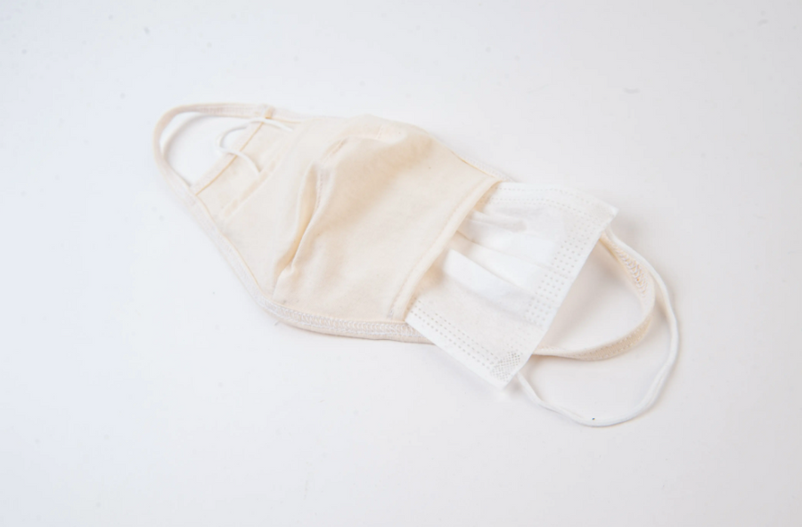 cloth face mask in natural - Piper & Chloe