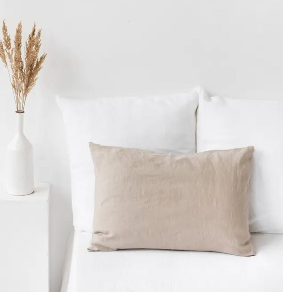 magic linen natural pillowcase available in king, queen and standard sizes. 100% european flax | piper & chloe