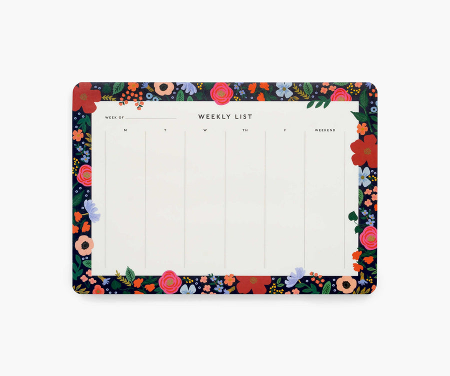 weekly desk pad in wild rose - Piper & Chloe