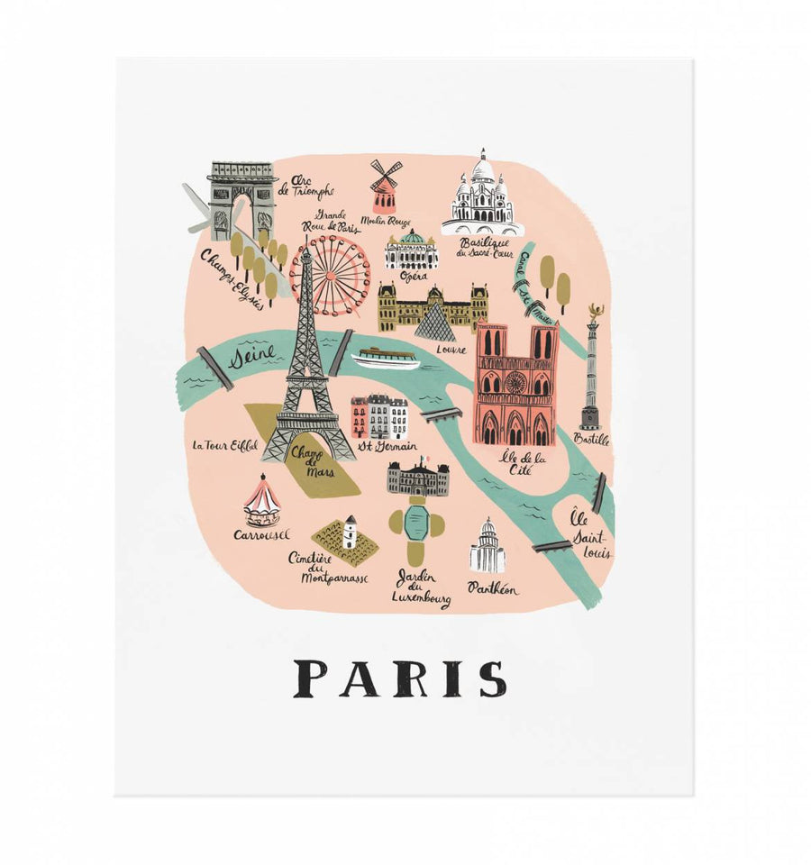 map print - paris - Piper & Chloe