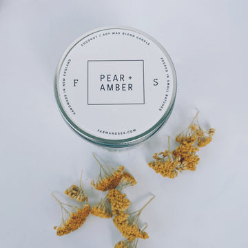 farm + sea candle in pear + amber - Piper & Chloe