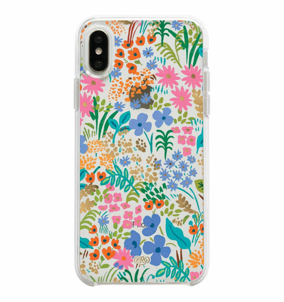 iphone case in clear meadow
