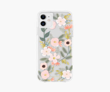 iphone case in clear wildflowers - Piper & Chloe