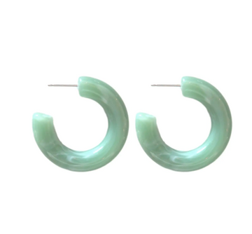 lucite hoops in seafoam