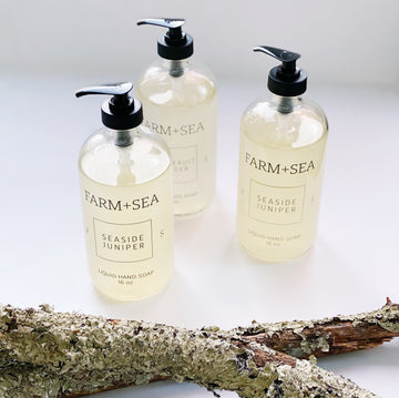 farm + sea hand soap in seaside juniper - Piper & Chloe