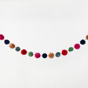 multi-color pom pom garland - Piper & Chloe