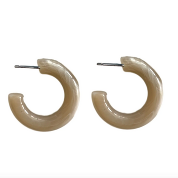 lucite hoops in brown sugar - Piper & Chloe
