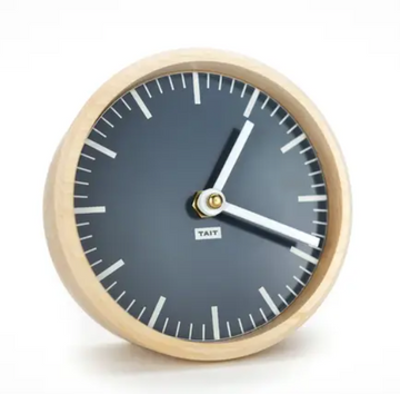 tait design co slate solid maple and aluminum desk clock | Piper & Chloe