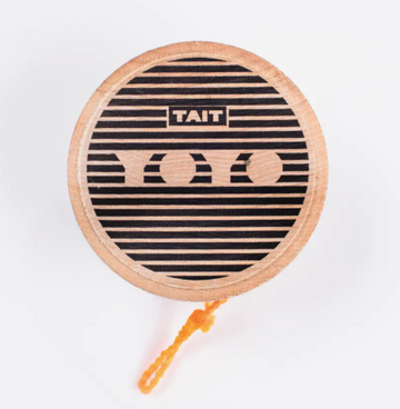 tait design co maple wood sustainably made sling slang yoyo in black | Piper & Chloe