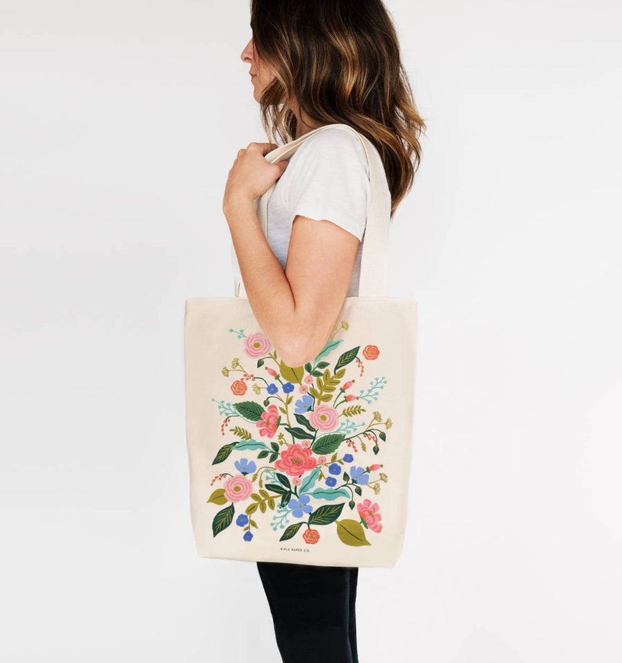 tote bag in floral vines - Piper & Chloe