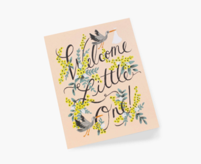 welcome little one greeting card - Piper & Chloe