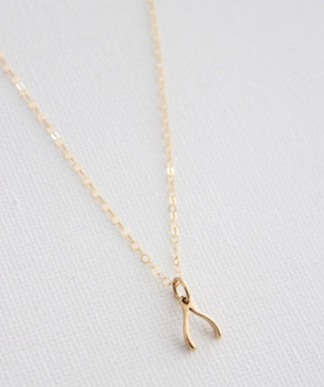 wishbone necklace petite - Piper & Chloe