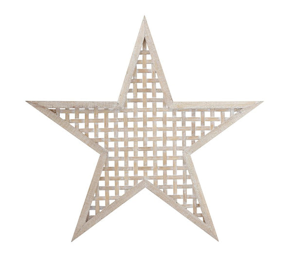 woven wood star