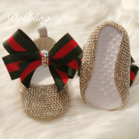 Bowknot Beaded Shoes Set