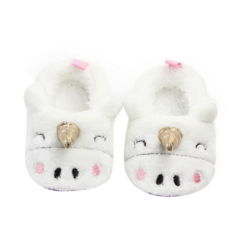 Unicorn Fluffy Fur Slippers for Baby