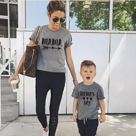 Mama's Boy Mommy and Me Matching T-Shirt