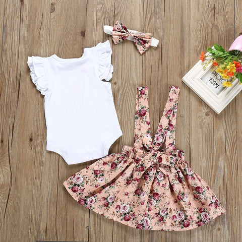 Infant Flare Rompers Set