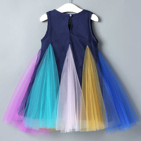 Rainbow Patching Dress