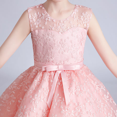 Embroidered Mini Flowers Princess Cocktail Dress