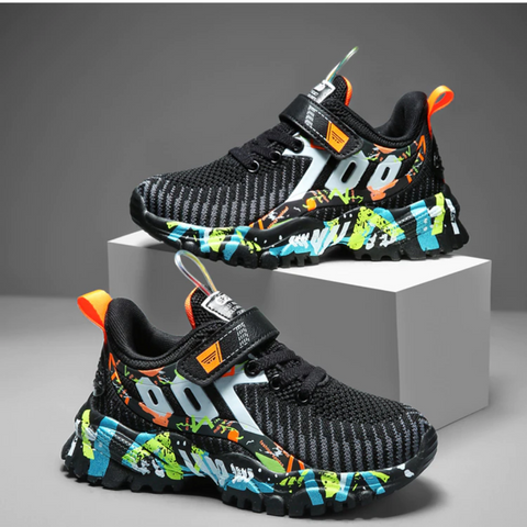 Colorful Mesh Running Boys Shoes