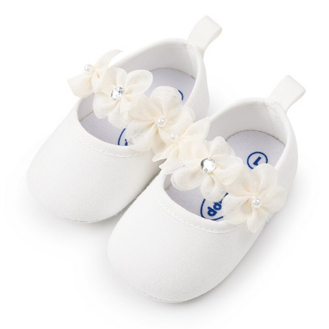 Floral Cotton Slip-On Baby Shoes