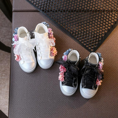 Mid Cut Floral Sneakers