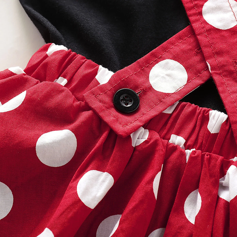 Polka Dot Suspender Dress Set