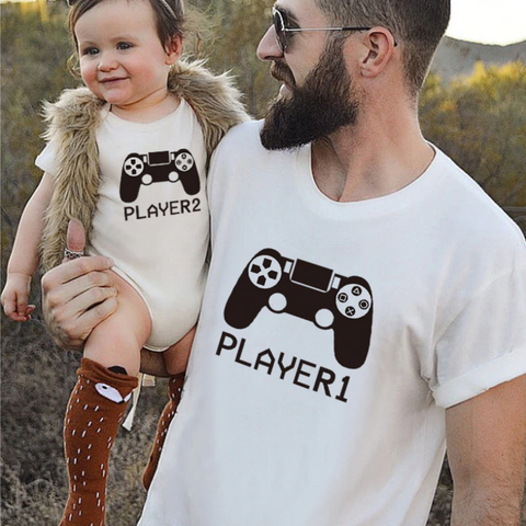 Player 1 and Player 2 Family Matching Tees