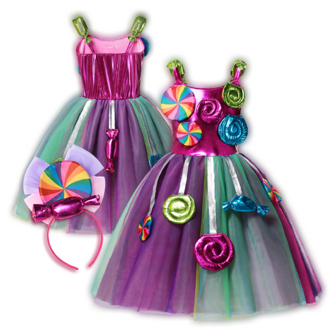 Rainbow Swirl Candy Party Dress