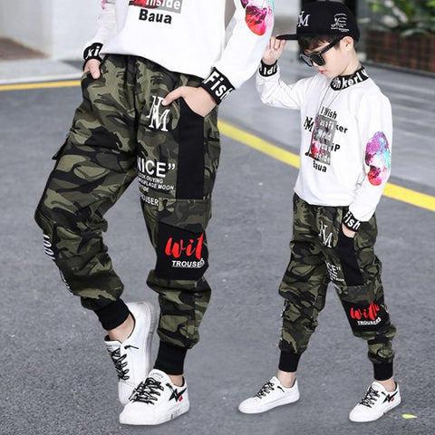 Boys Camouflage Trousers