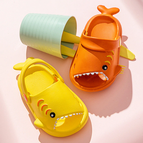 Summer Shark Slippers with Strap
