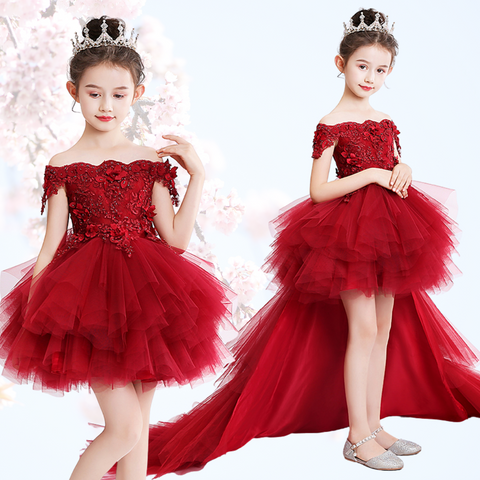 Trailing Flower Princess Tutu Dress