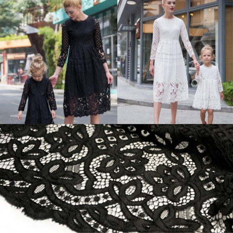 Patterned Lace Mom & Me Classic Dress