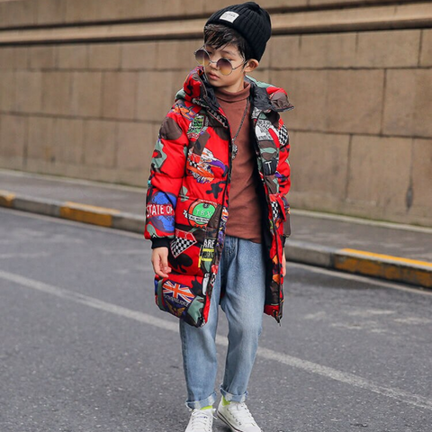 Graffiti Winter Coat