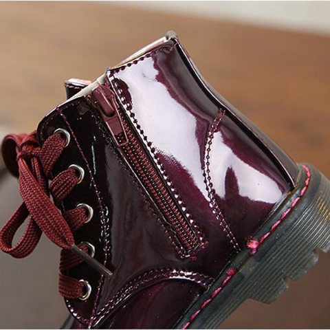 Glossy Leather Boots