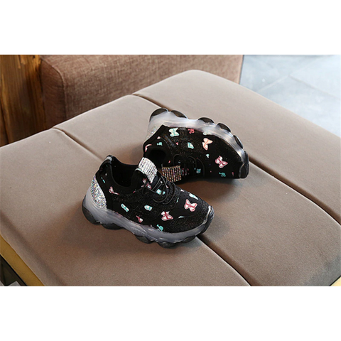 Butterfly Print LED Shoes